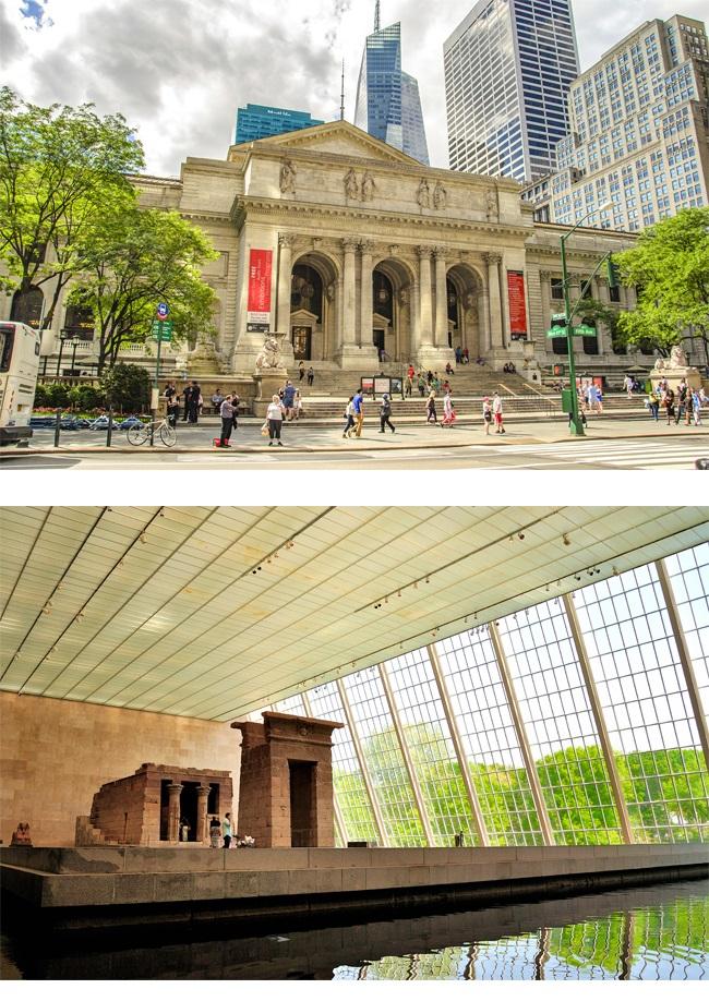 (上圖)大都會藝術博物館外觀 (下圖)最受歡迎的館藏--丹鐸神廟