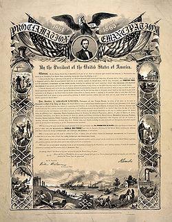 《解放奴隸 宣言》的重製本