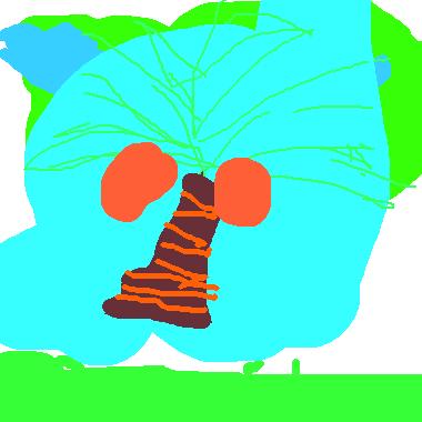 孤單的椰子樹