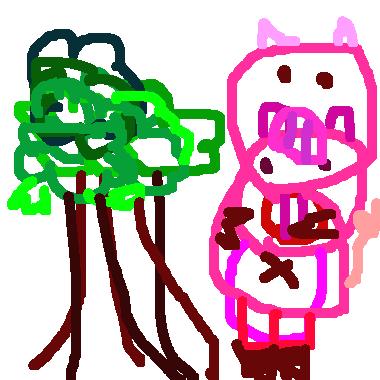樹林裡的小豬