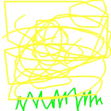 綠色和黃色