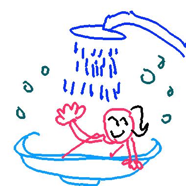 我正在洗澡