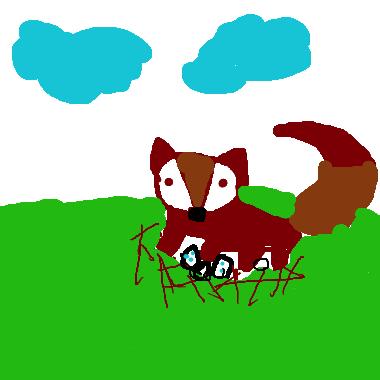 作品:狐狸孵蛋