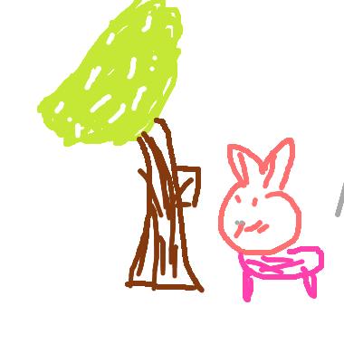 小白兔和樹