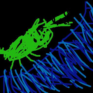 塗鴉:鱷魚爬山