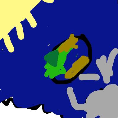 作品:金太陽銀太陽和地球