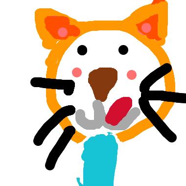 作品:「掉出書裡的大野狼」的貓咪