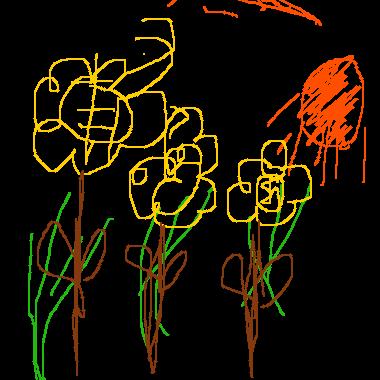 作品:一家人看花