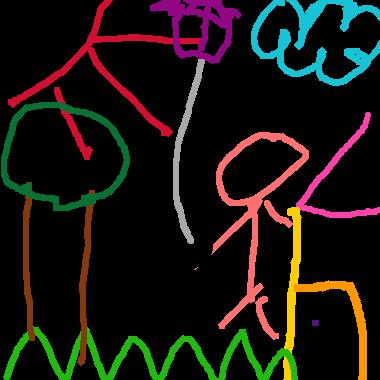 在家外玩風箏