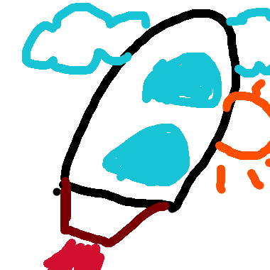 作品:火箭發射了!