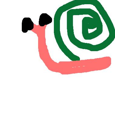 作品:我和蝸牛比賽賽跑因為