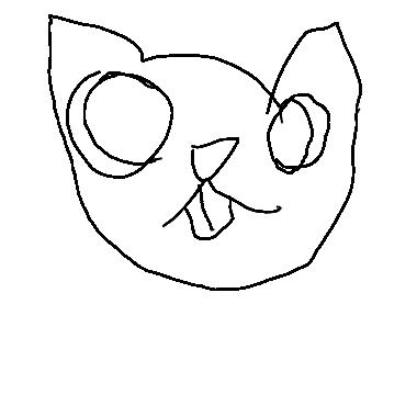 作品:又大又小的近視貓