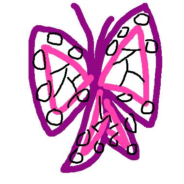 作品:蝴蝶髮飾