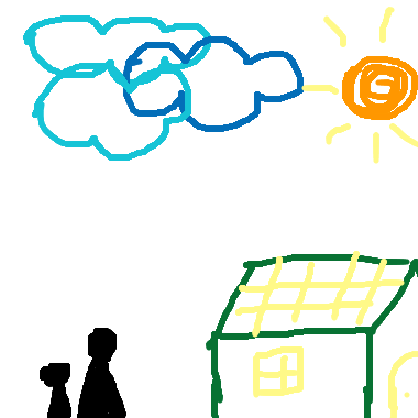 我媽媽像是一朵雲