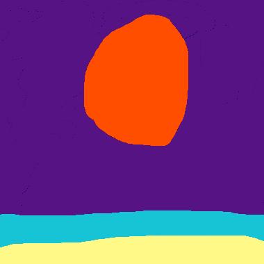 在海灘看菊月亮