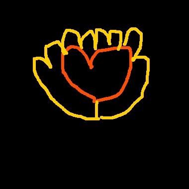 作品:手中的愛心