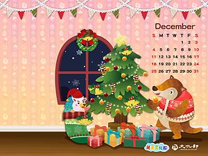 2016年12月月曆桌布示意圖